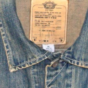 Old Navy Jackets & Coats - Old Navy distressed denim jean jacket EUC XL